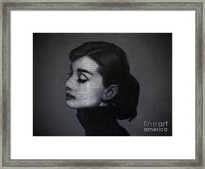 Art In The News 98-audrey Hepburn Framed Print
