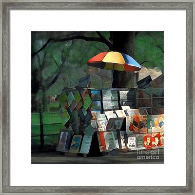 Art In The Park - Central Park New York Framed Print