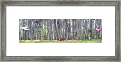 De Fence Framed Print