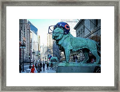 Art Institute Of Chicago Lions Framed Print