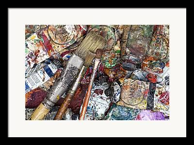 Art Is Messy Framed Prints