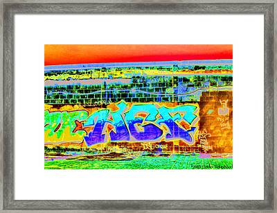 Art Is The Answer... Framed Print by Sarita Rampersad