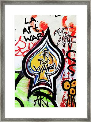 Art Is War Framed Print by Art Block Collections
