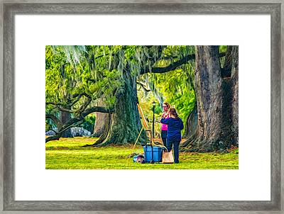Art Lesson - Paint Framed Print by Steve Harrington