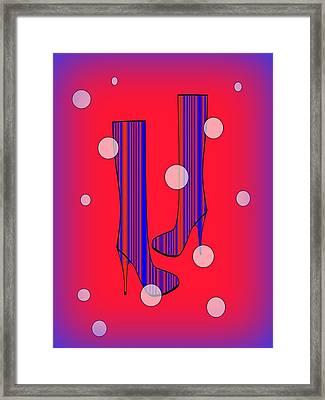 Art Meets Fashion Framed Print