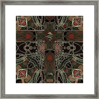 Art Nouveau Crucifix Framed Print