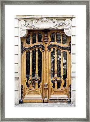 Art Nouveau Paris Door Framed Print by Ivy Ho