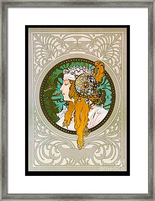 Art Nouveau Profile 1895 Framed Print