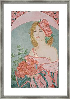 Art Nouveau Roses Framed Print