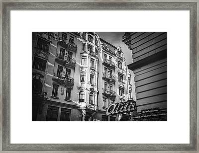 Art Nouveau Vienna In Black And White  Framed Print by Carol Japp