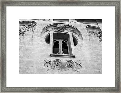 Art Nouveau Window Framed Print