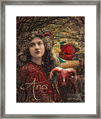 Art Nouveau Zodiac Aries Framed Print