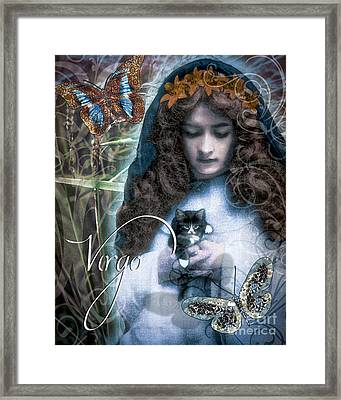 Art Nouveau Zodiac Virgo Framed Print by Mindy Sommers