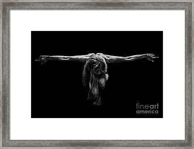 Art Of A Woman Body Builder Framed Print by Jt PhotoDesign