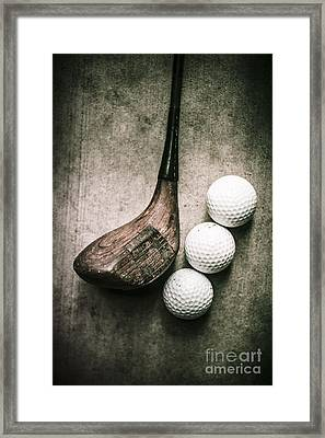 Art Of Golfing Framed Print