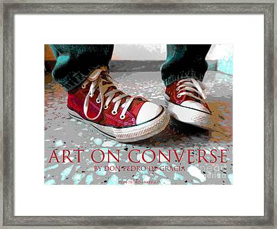 Art On Converse Framed Print