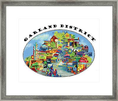 Garland District In Color Framed Print