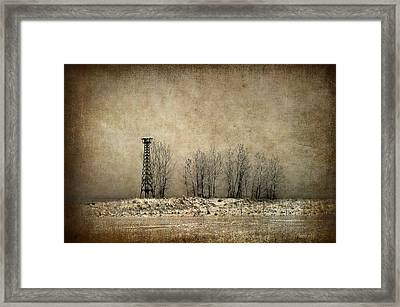 Art On The Beach Framed Print