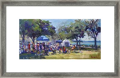 Art On The Riverwalk At Niawanda Park Framed Print