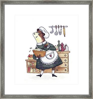 Art Prints - Bear - Cute Animals - Kitchen - Cook Room - Wall Decor - Cuisine - Wall Decor Framed Print