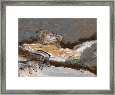 Art Rupestre Framed Print