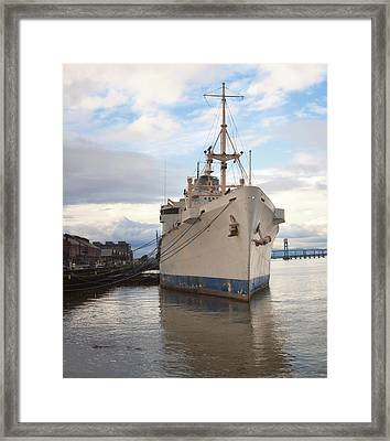 Art Ship At Mare Island Framed Print by Steven Wynn