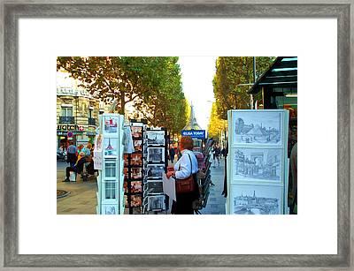 Art Shopping In Paris Framed Print by Barbara McDevitt
