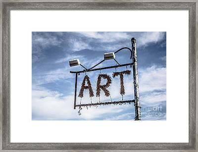 Art Sign Framed Print by Edward Fielding