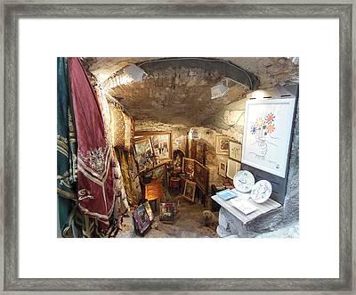 Art Store In St Paul De Vence Framed Print by Marilyn Dunlap