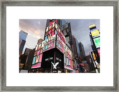 Art Takes Times Square Framed Print