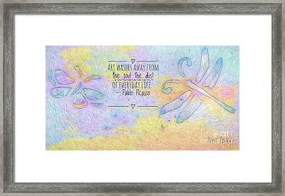 Framed Print featuring the painting Art Washes The Soul by Kerri Farley