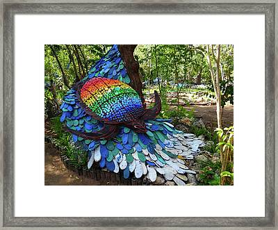 Art With Recycling - Turtle Framed Print