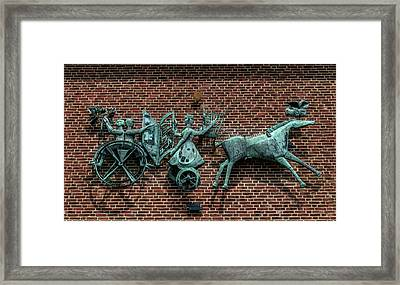 Art Work In Ystad, Sweden Framed Print