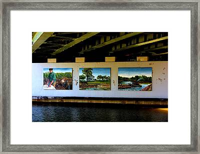 Art Work On The Erie Canal Framed Print by Richard Jenkins