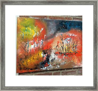 Framed Print featuring the painting Art Work by Sheila Mcdonald