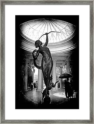Framed Print featuring the photograph Artemis At Huntington Library by Lori Seaman