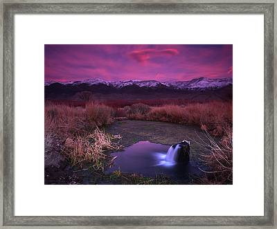 Artesian Sunset Framed Print by Chris Morrison