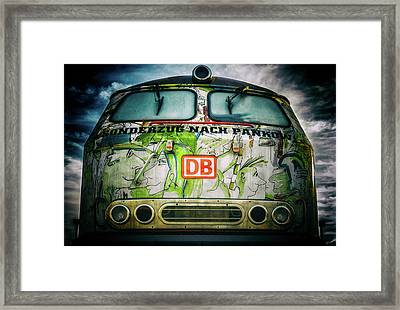 Artful Locomotive Framed Print by Pixel2013