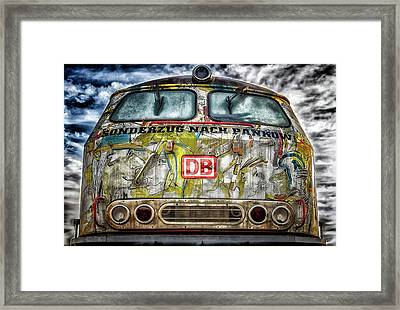 Artful Locomotive Framed Print by Tama66