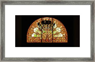 Artful Stained Glass Window Union Station Hotel Nashville Framed Print by Susanne Van Hulst
