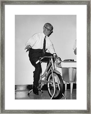 Arthur Goldberg Rides Framed Print by Underwood Archives