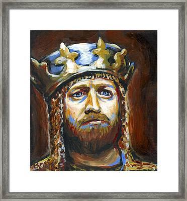 Arthur King Of The Britons Framed Print by Buffalo Bonker
