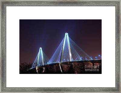 Arthur Ravenel Bridge Framed Print by Corky Willis Atlanta Photography
