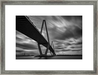 Arthur Ravenel Bridge Framed Print by Rick Berk