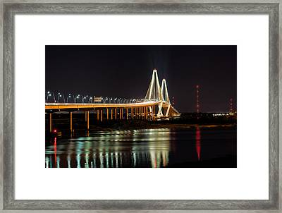 Framed Print featuring the photograph Arthur Ravenel Bridge by RC Pics