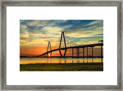 Arthur Ravenel Jr. Bridge - Charleston Sc Framed Print