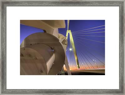 Arthur Ravenel Jr. Bridge Charleston Sc Framed Print by Dustin K Ryan