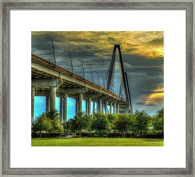 Arthur Ravenel Jr Bridge Charleston South Carolina Art Framed Print