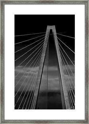 Arthur Ravenel Jr Bridge Framed Print by DigiArt Diaries by Vicky B Fuller
