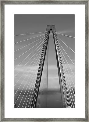 Arthur Ravenel Jr Bridge II Framed Print by DigiArt Diaries by Vicky B Fuller